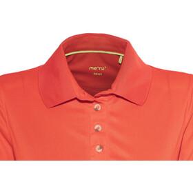 Meru Wembley Polo à manches courtes Femme, fiery red